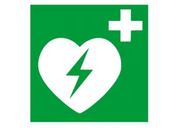 Piktogramm-Schild AED