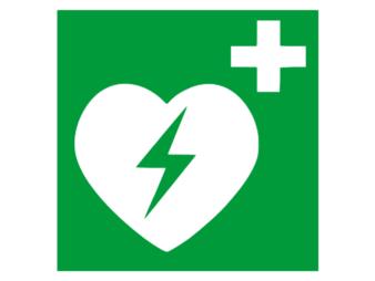 Piktogramm Aufkleber AED
