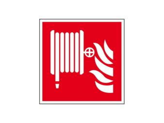 Piktogramm-Schild Löschschlauchhaspel