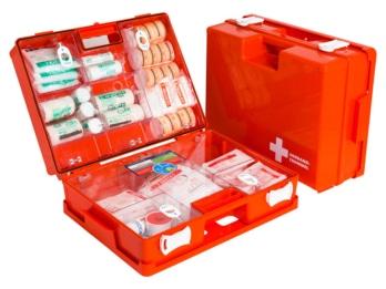 Leerer Erste-Hilfe-Koffer