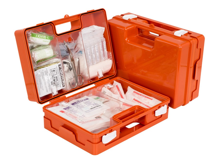 Erste-Hilfe-Koffer für den Bau klein